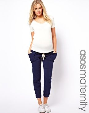 £35   ASOS Maternity Trousers with Drape Utility Pockets