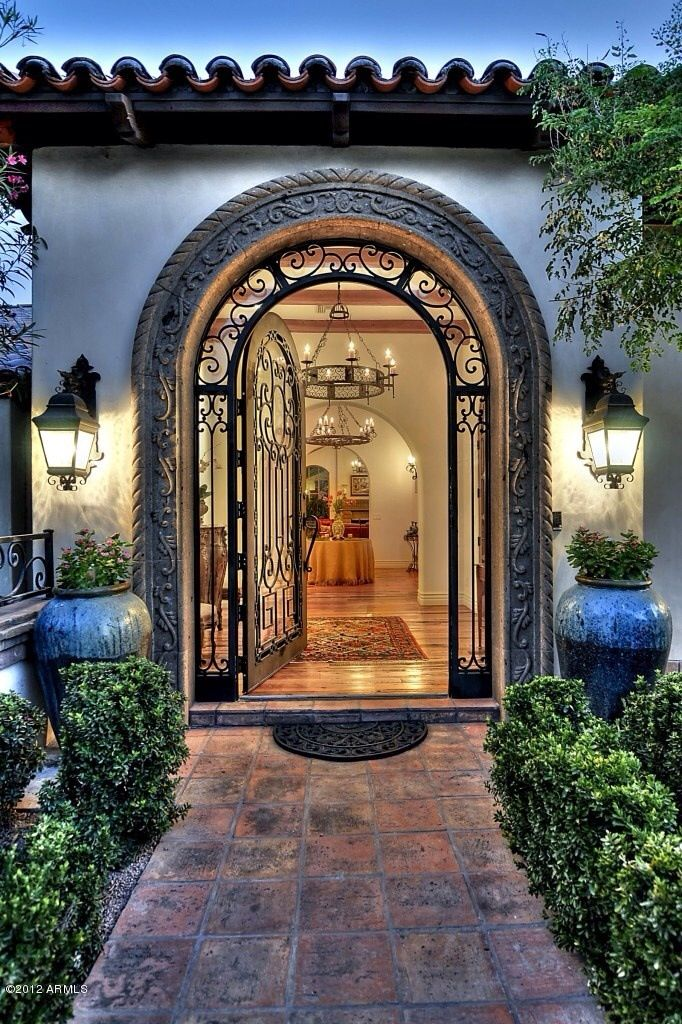 Pin by amanda bodin on living in luxury pinterest for Front door entrance designs for houses
