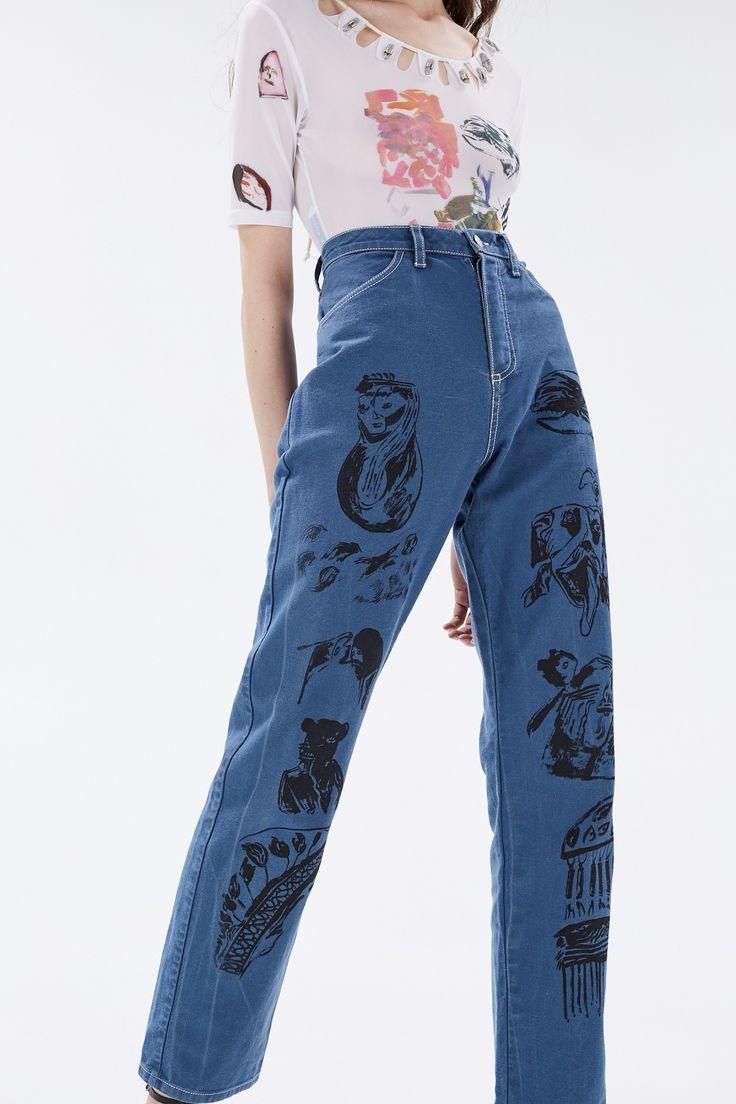 Claire Barrow - Джинсы с принтом Claire Barrow - Брюки и джинсы - Интернет-магазин Кузнецкий мост 20