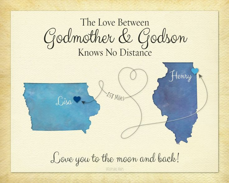 Godmother Gift, Godson Gift, Long Distance Gift, Personalized Gift, Birthday…