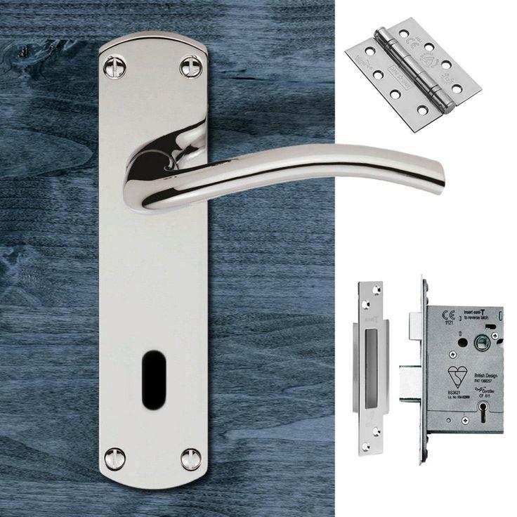Serozzetta Tres SZC031CP Lever Lock Polished Chrome Handle Pack. #doorhandle&lock #lever&lock&hinges #moderndoorhandlepack