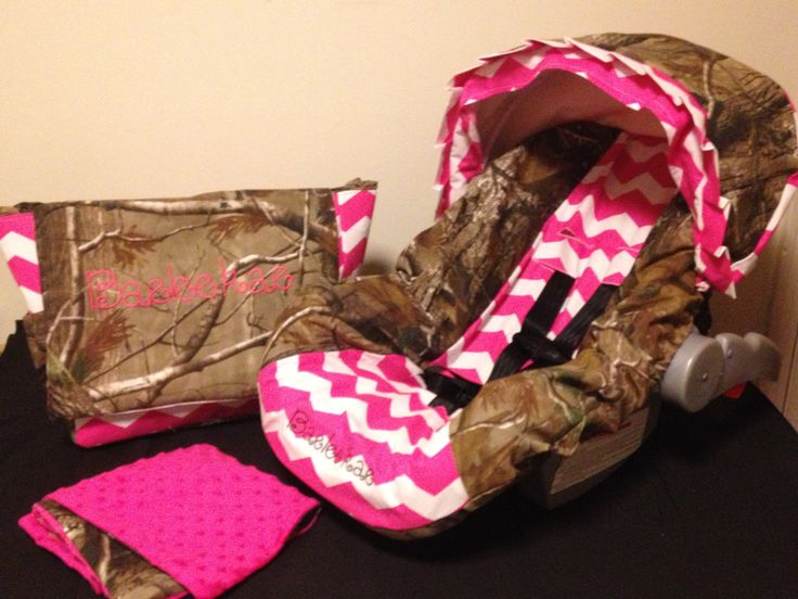 3 Piece Set PINK CHEVRON & REALTREE camo by LIZSSTITCHESdotCOM, $115.00