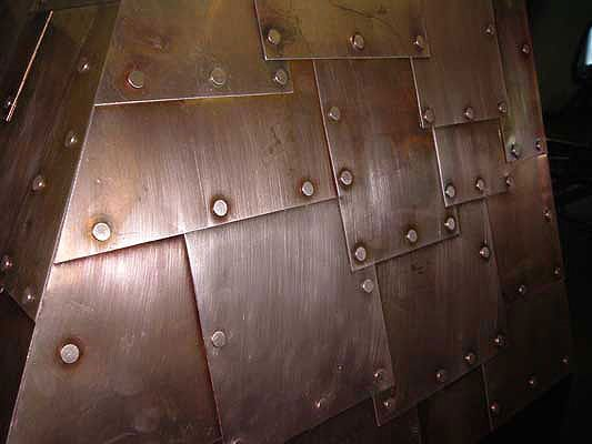 Riveted Wall Panel Concept Copper Mine Suite Pinterest