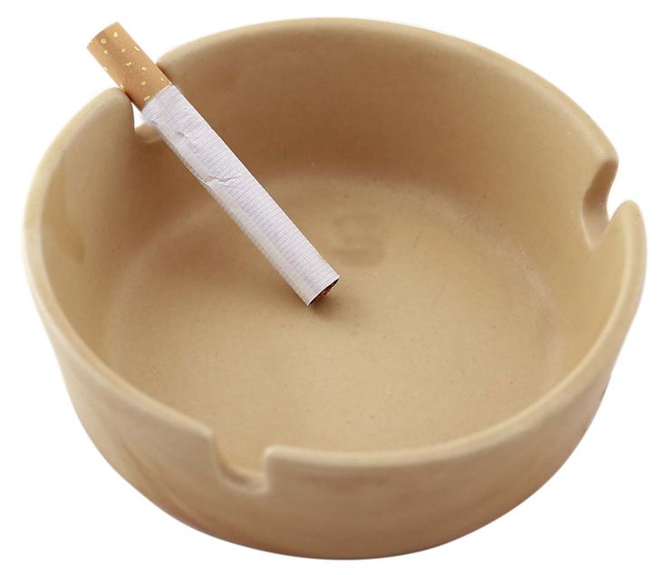 "#Bulk #Wholesale 4.3x1.5 H"" Vintage-Style #Round #Ceramic #Ashtray with 3 Cigarette Slots – Glazed Caramel Brown – Gifts for Him"