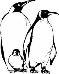 coloring pages penguins in love | 17 Best images about penguines' on Pinterest | Coloring ...