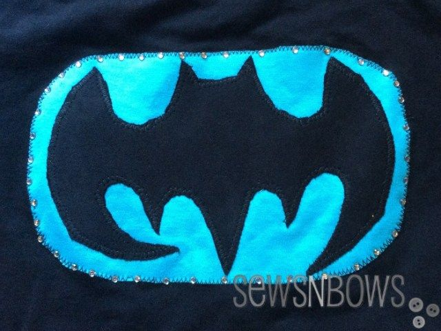 DIY Batman Costume for Tween Girls (link to free logo template)