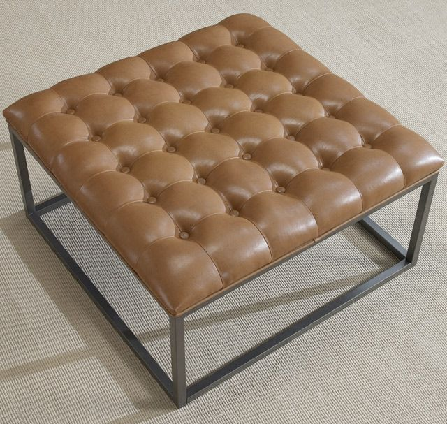 Best 25 Tufted Leather Ottoman Ideas On Pinterest