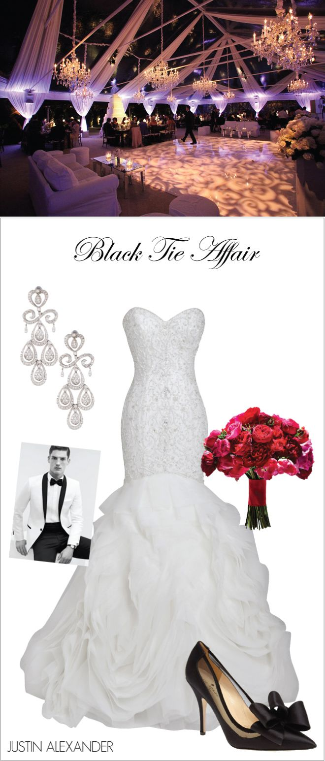 Wedding Day Look: Black Tie Affair ~ Brought to you by @jabridal