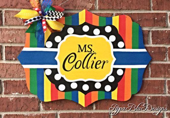 Teacher Door Hanger Teacher Sign Teacher Wreath
