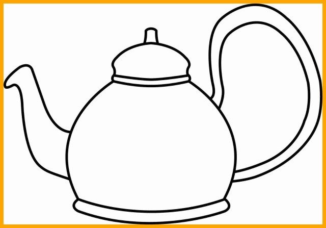 Best Photo Of Teapot Coloring Page Tea Pots Coloring Pages