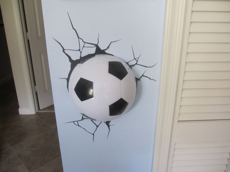 soccer bedrooms | ... Your Little Soccer Fan the Coolest Room Ever with a 3D Soccer Light