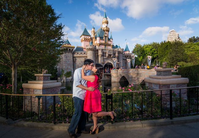 Disneyland Engagement Photo | Lin and Jirsa Photography | From: Blog.theknot.com