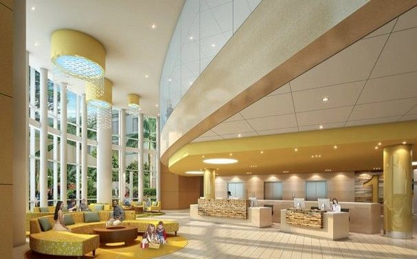 lobbies for children hospitals | The lobby of the Lee Memorial Health System's new Golisano Children ...