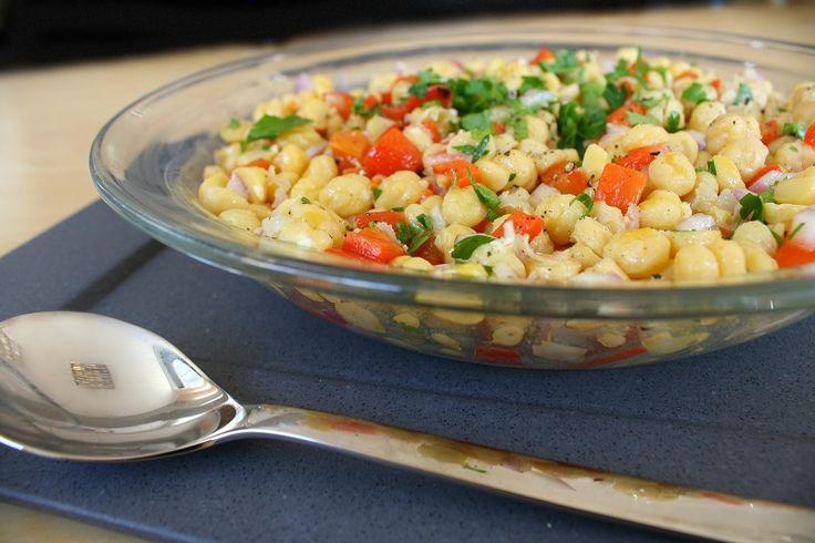 υγιεινή σαλάτα ρεβίθια