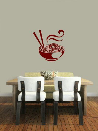 Housewares Vinyl Decal Japanese Chinese Noodles Food Home Wall Art Decor Removable Stylish Sticker Mural Unique