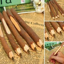 Lots Unique Natural Wooden Ball Point Wood Pen for Birthday Wedding Guest Gift