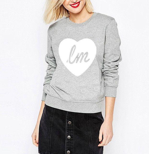 2017 women LITTLE MIX LOVE HEART kawaii sweatshirt female hip-hop brand tracksuit funny pink hoodies harajuku kpop punk pullover
