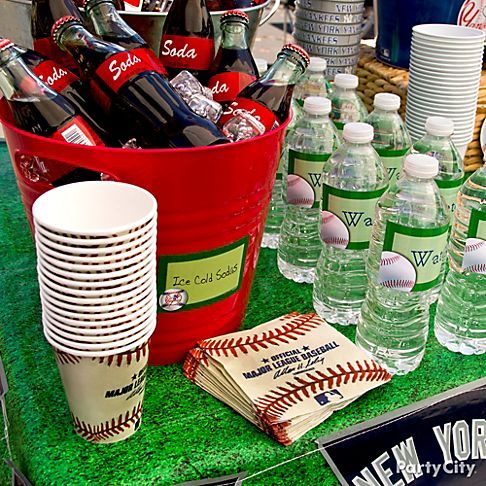 Tailgating calls for thirst-quenching, so set up a drink station with party tubs and ice buckets to keep drinks chilly, yet easy to grab.
