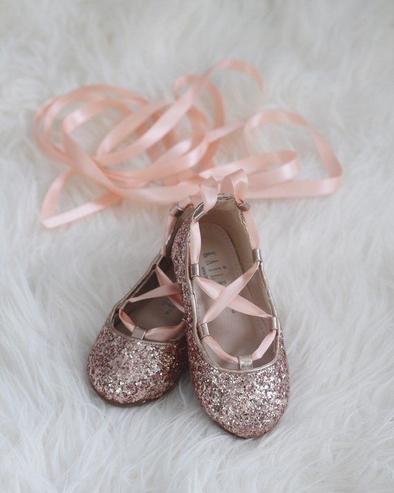 ROSE GOLD ROCK Glitter Infant girl Shoe