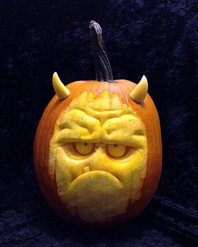 Halloween pumpkin carvings gallery (this one by Ray Villafane)   The Guardian
