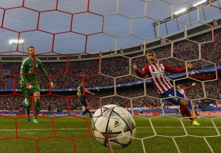 Ch.L.-HF: A.Madrid - Bayern München 1:0 - Nicht nur das Solo, auch der Abschluss von Ñíguez war erstklassig. Manuel Neuer...
