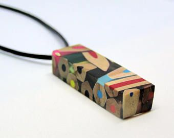 Unique wood resin jewelry, resin wood pendants …