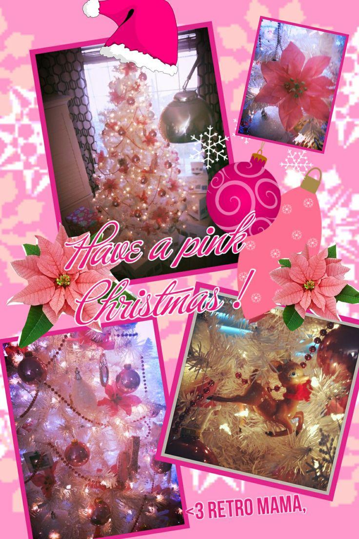 My pink Christmas tree , retro mama ,