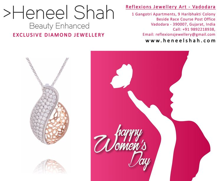 Don't wear ordinary jewelry; it wrecks a woman's reputation. Choose fantastic real diamond jewelry on this wonderful occasion By Heneel Shah From Reflexions Jewellery Art.  http://heneelshah.com/home.html  #RealDiamond #Jewelry #Vadodara #Baroda #RaceCourse #rings #ReflexionsJewelleryArt