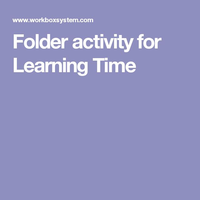 Folder activity for Learning Time