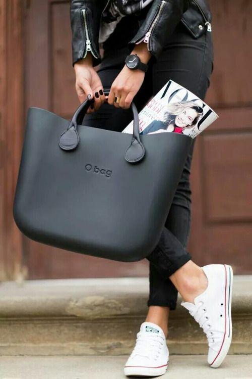 O bag Italian Handbags + converse   Camille Style