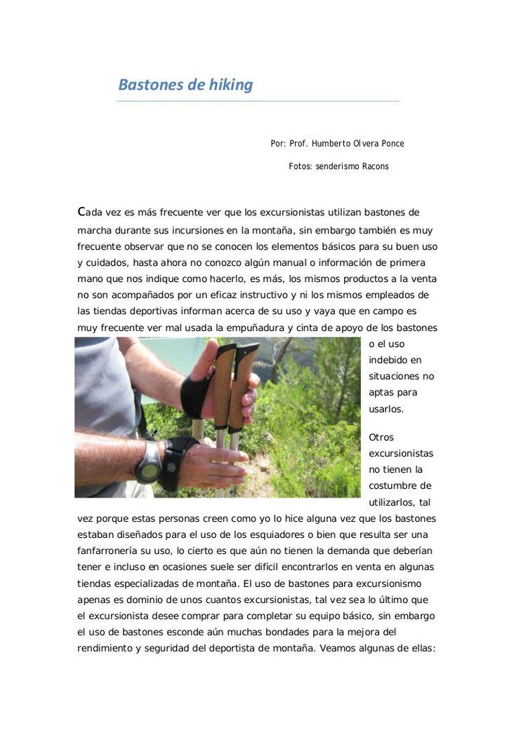 Bastones para el Senderismo by senderismo Racons via slideshare