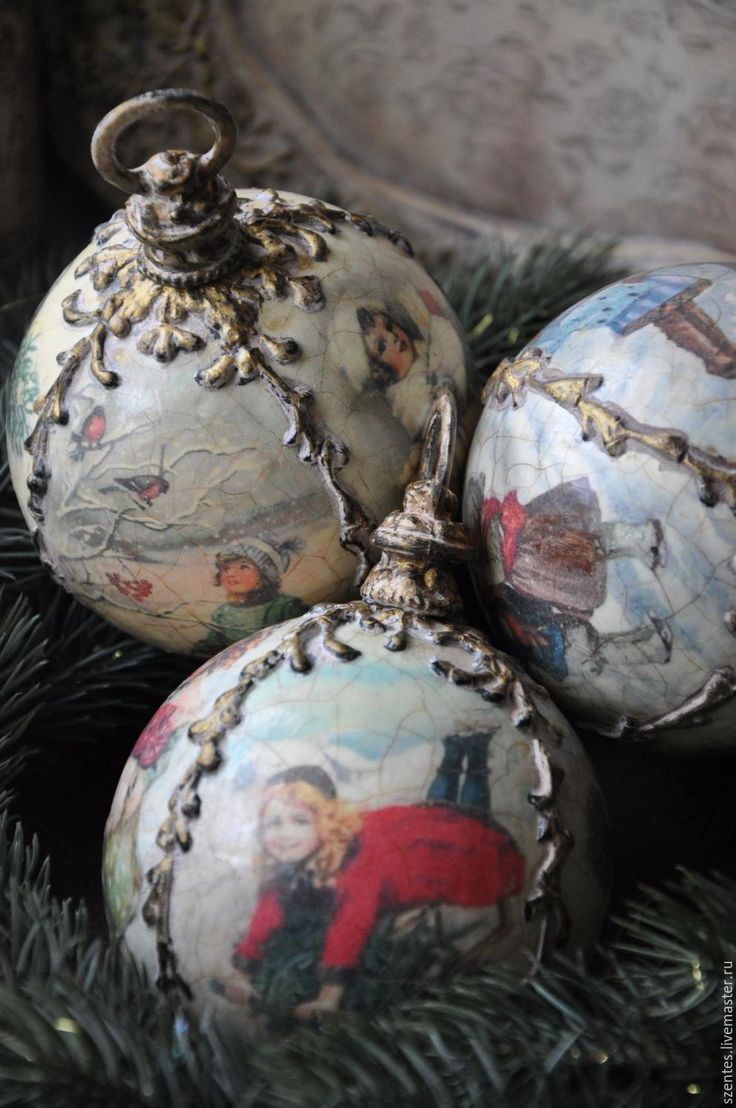 Купить Елочные шары - комбинированный, елочные игрушки, елочные шары, новый год 2017, рождество 2017