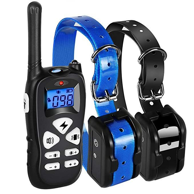 Ticent Dog Training Collar For 2 Dogs 1800ft Remote Waterproof