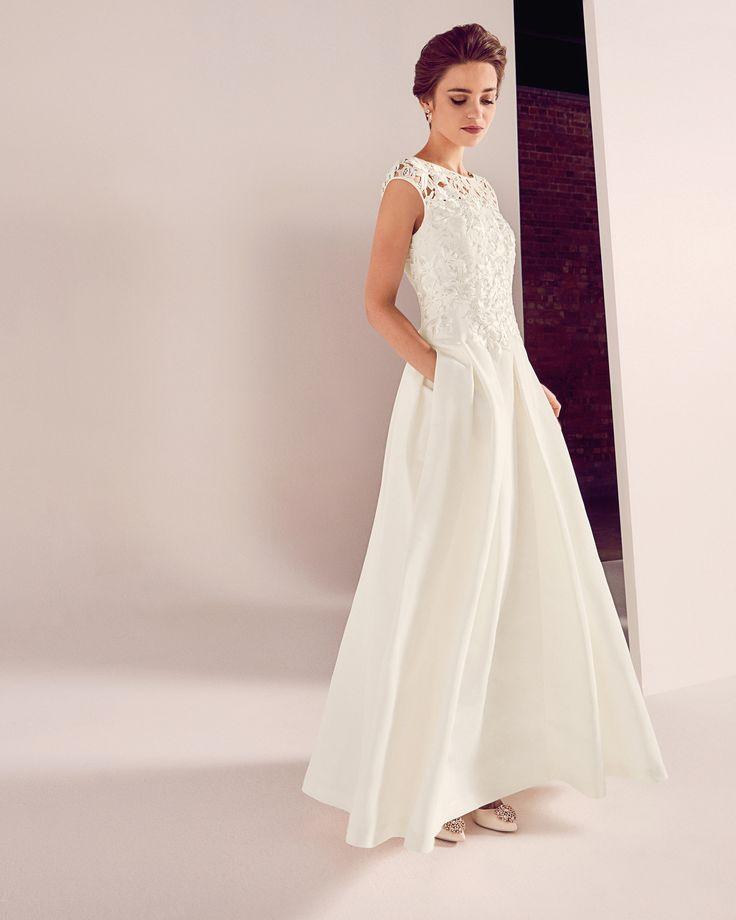 Brautkleid mit besticktem Mieder - Weiß | FS17 Tie The Knot | Ted Baker DE