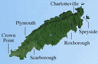 Map of Tobago