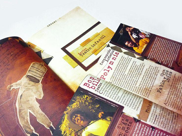 Catálogo / IX Festival de Teatro de Bogotá. Diseño editorial y diagramación: Daniel Roa.  Bogotá, 2013.