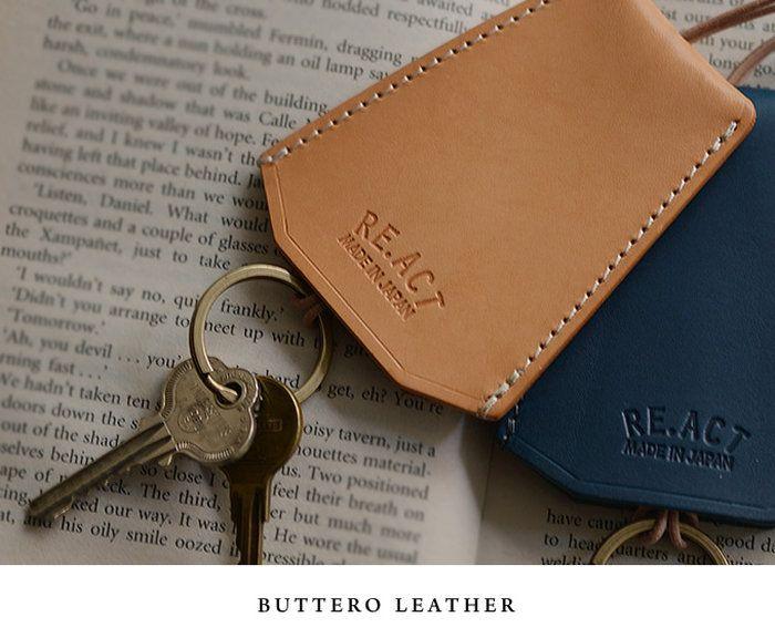 鍵をアクセサリー感覚で持ち歩けるキーケース。。RE.ACT(リアクト) KEY CASE キーケース鍵をアクセサリー感覚で持ち歩けるキーケース。本革 革小物 日本製 キーホルダー メンズ レディース プレゼント 男女兼用 ユニセックス