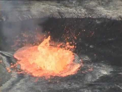 In Case You Were Wondering, This Is What Happens When You Chuck a Bag of Trash Into a Lake Made of Lava