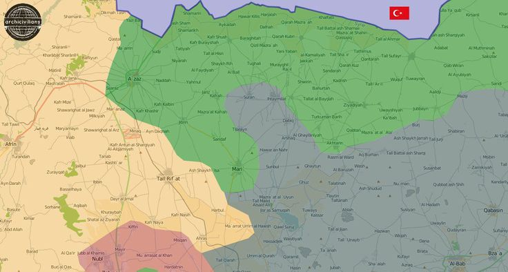 NEW MAP: North #Aleppo | #Syria Opposition factions clearing areas east of #Azaz from #ISIS