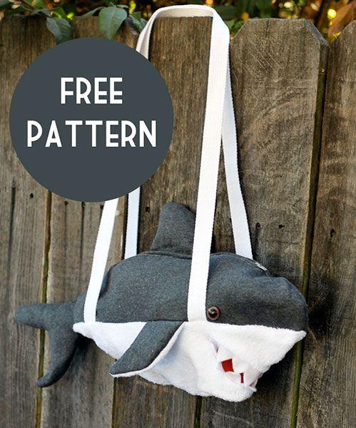 Shark Bag Sewing Pattern (Free)