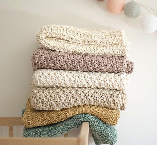 "Mantita tejida a mano de algodón orgánico peruano ""fino""   Nottocbaby"