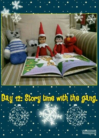 Day 12: Story time with the gang.