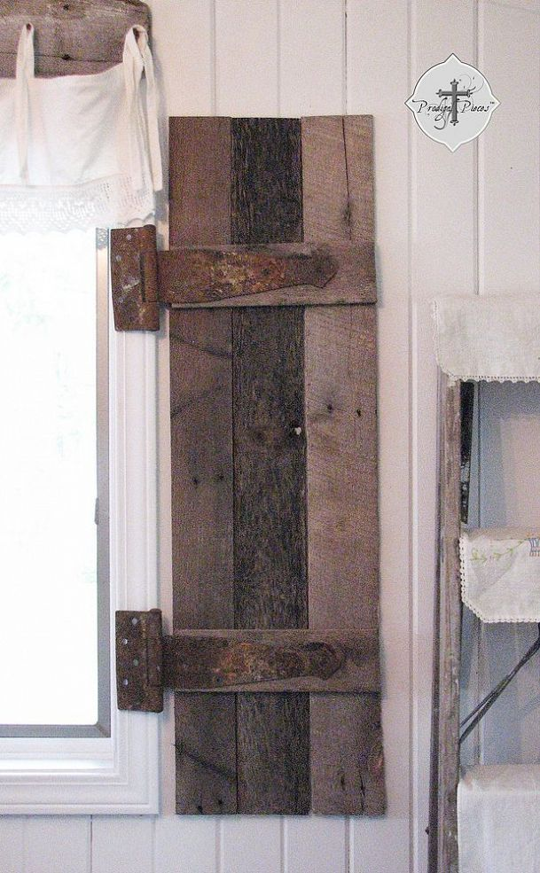 DIY: Barn Wood Shutters From Pallets !!