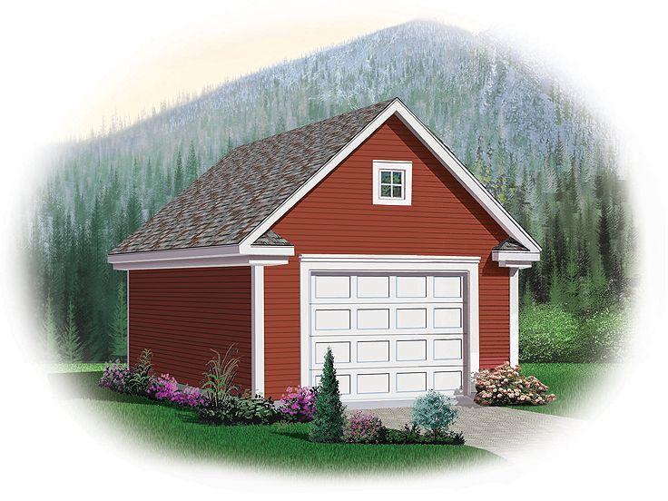 1 Car Garage Loft Plan 028g 0032 Garage Pinterest