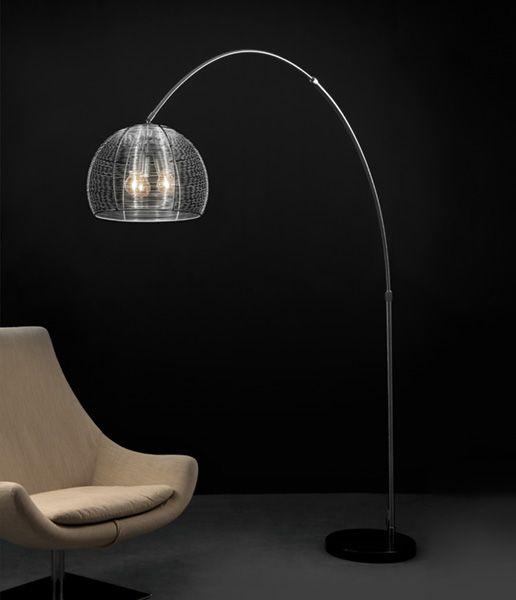 Design Bogenlampe PAZIFIK ALUMINIUM