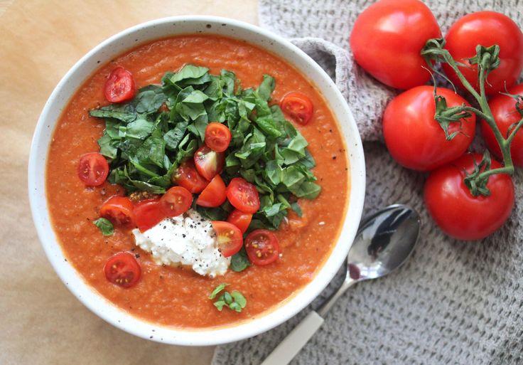 Spicy tomat- sellerisuppe. Lavkalori