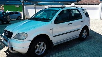 2001 Mercedes-Benz M-class Ml 320 F/l for sale PE R 89 900.Mileage	284 000 Km Year	2001 Condition	Good Colour	white Transmission	Automatic Fuel Type	Petrol Options	ABS, Air bags, Aircon, Alarm, Climate control, Cruise control, Electric Windows, Full service record, Leather seats, Radio, Sunroof, Towbar. Call Junior 081 352 2372