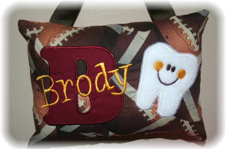 Personalized Tooth Fairy Pillow for Boys  by SandDStitches on Etsy, $22.50