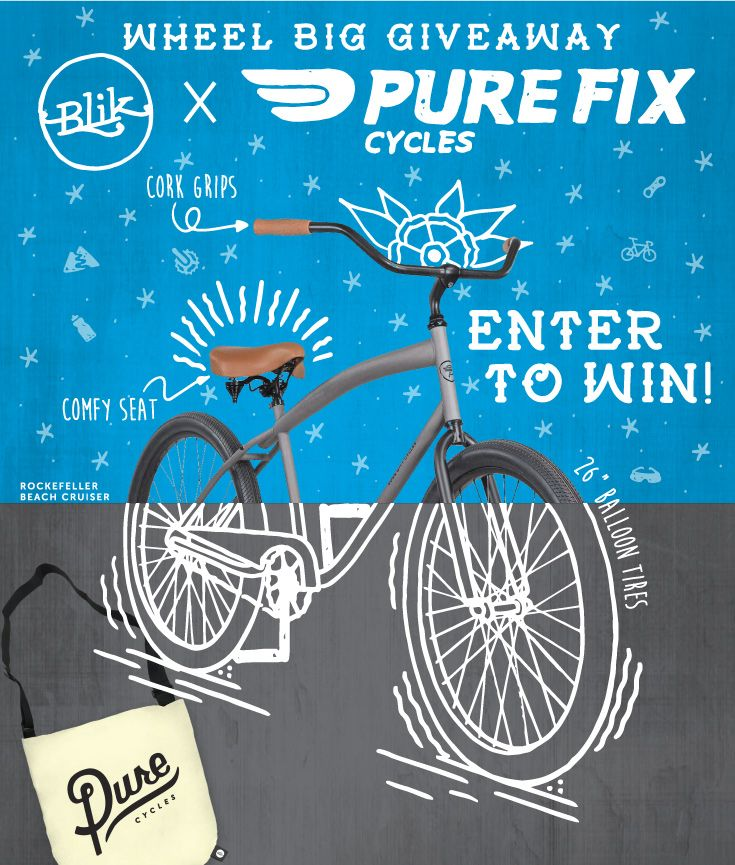 "Check out this ""Wheel"" Big beach cruiser giveaway at BLIK!"
