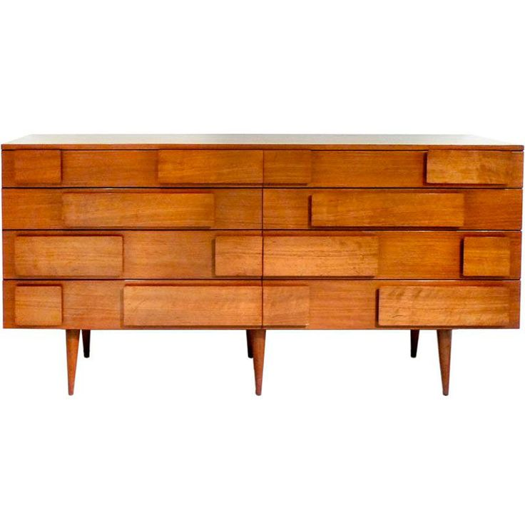 Figured Italian Walnut Chest / by Gio Ponti for M. Singer & Sons / Italy, 1950's. @designerwallace